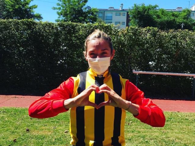 M.ミシェル騎手「日本チームのために勝てて嬉しいです」(写真:本人提供)