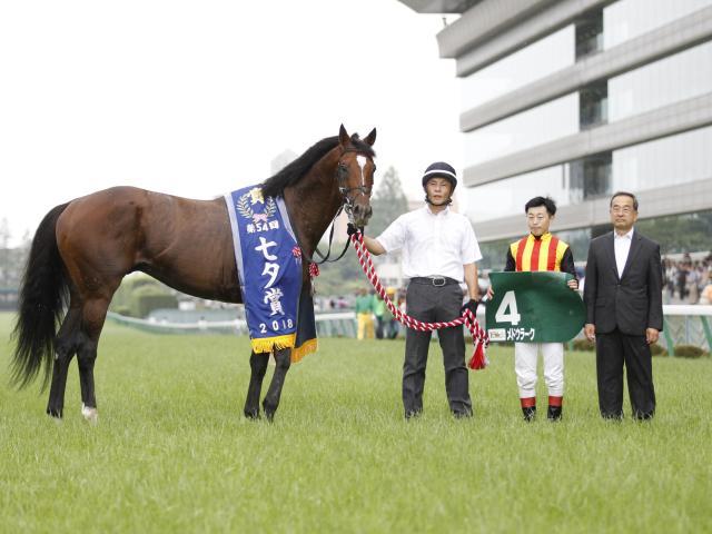 メドウラークが引退 乗馬となる予定(写真は七夕賞優勝時、撮影:下野雄規)