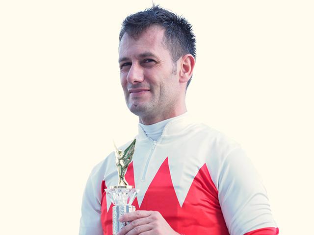 ウェイトゥパリスに騎乗予定のM.デムーロ騎手(撮影:下野雄規、撮影日は2019年8月3日)