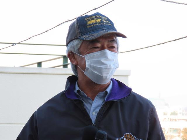 グランアレグリアを管理する藤沢調教師「穏やかになってきたので長くしても大丈夫」(c)netkeiba.com