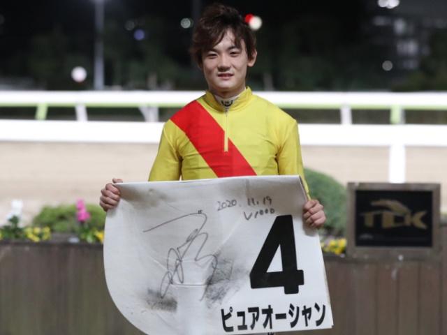 TCK史上最速で地方競馬通算1000勝を達成した笹川翼騎手(撮影:高橋正和)