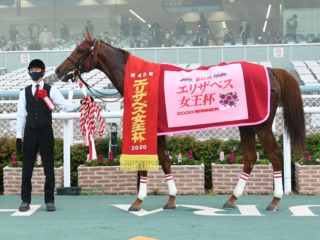 ラッキーライラックは有馬記念で引退、繁殖入りへ(写真は今年のエリザベス女王杯優勝時)