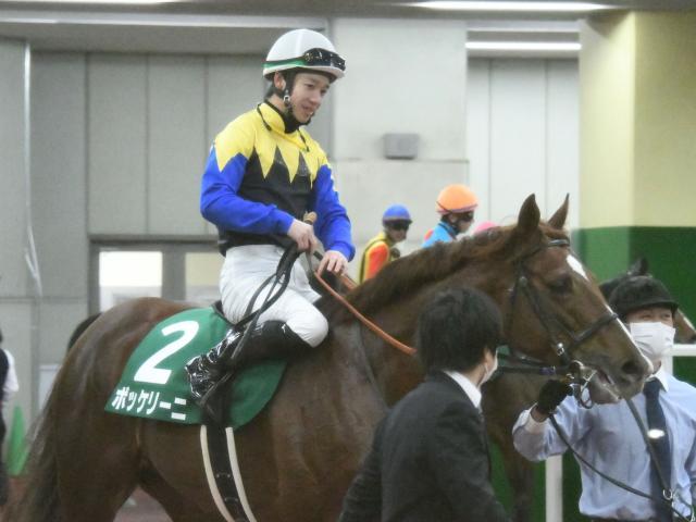 優勝したボッケリーニと松山弘平騎手(c)netkeiba.com