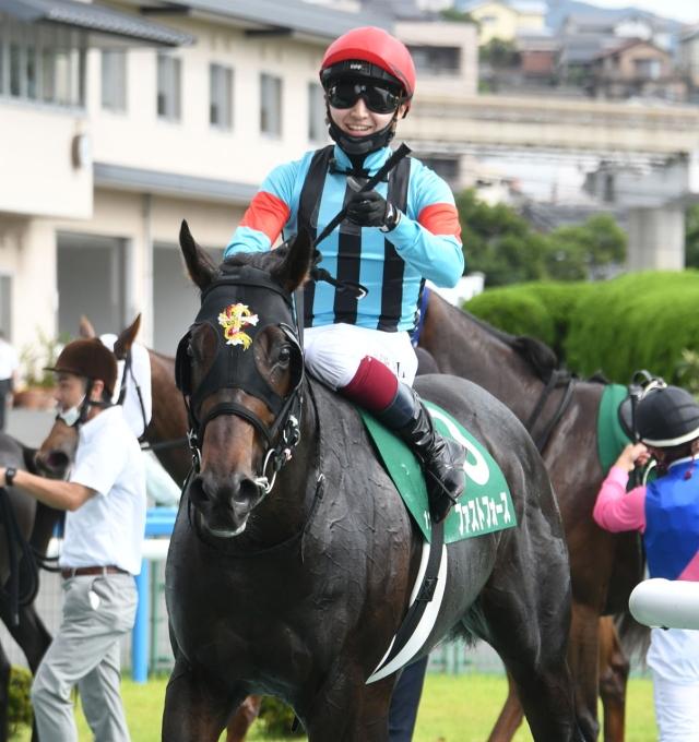ファストフォースを勝利に導いた鮫島克駿騎手(c)netkeiba.com
