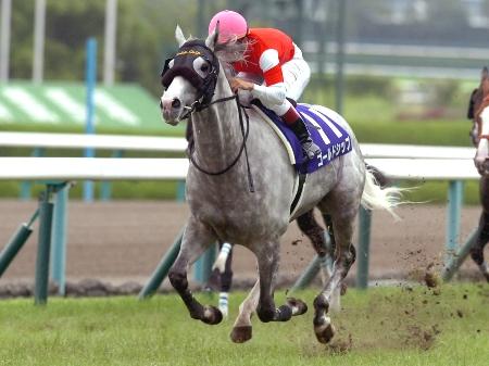 ゴールドシップが直線で先行各馬を捕らえ、最後は3馬身差をつける圧勝で宝塚記念を連覇