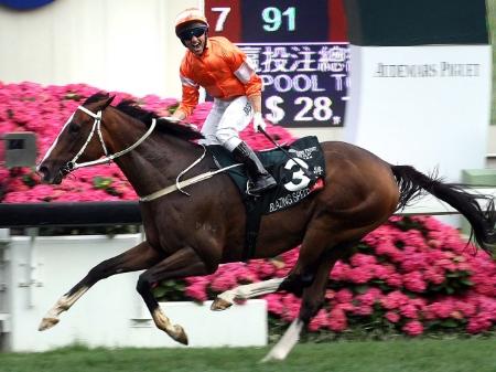 クイーン・エリザベス2世Cは香港のブレイジングスピードが突き抜け優勝(写真提供:Hong Kong Jockey Club)
