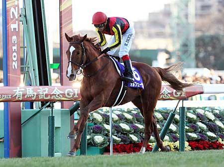 史上31頭目の顕彰馬に選ばれたオルフェーヴル(写真は2013年有馬記念優勝時、撮影:下野雄規)