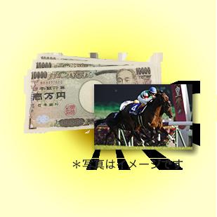 軍資金3万円 + 有馬記念優勝馬写真パネル