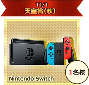 11/1 天皇賞(秋) Nintendo Switch 1名様