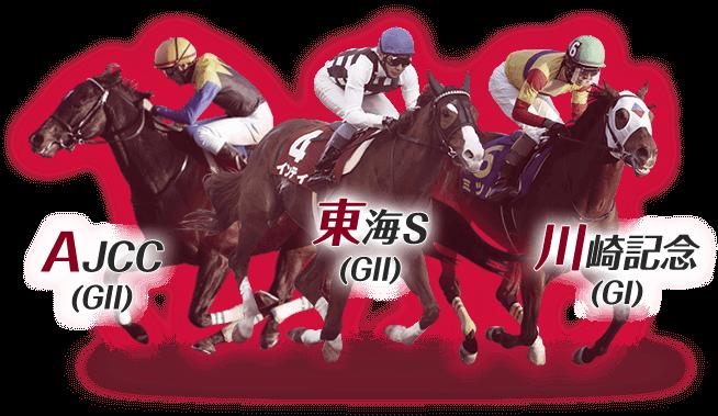 AJCC(GII),東海S(GII),川崎記念(GI)