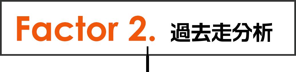 Factor 2.過去走分析