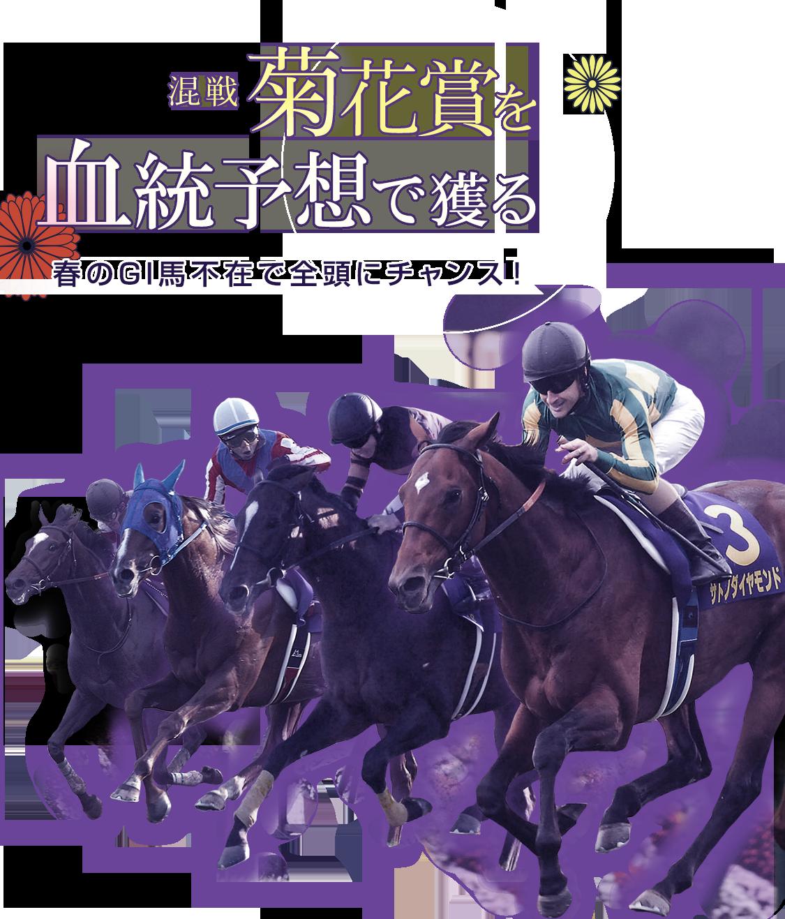 混戦 菊花賞を血統予想で獲る 春のG1馬不在で全頭にチャンス!